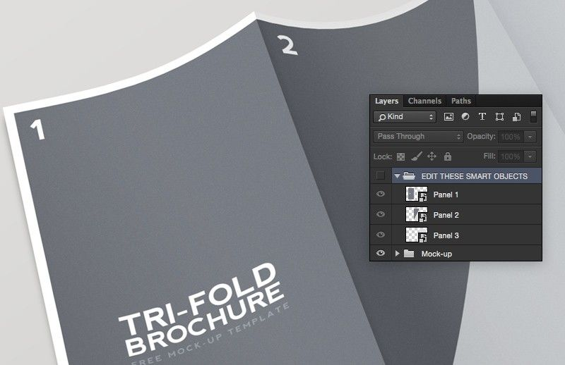 Medialoot - Tri Fold Brochure Mockup Template