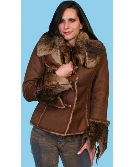 Scully Faux Fur and Suede Jacket