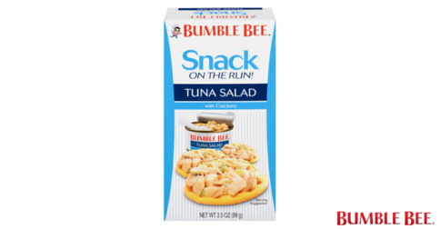 Bumble Bee® Snack On The Run! Tuna Salad with Crackers Kit is the perfect companion for your busy schedule. Try our classic tuna salad that's always ready to eat!