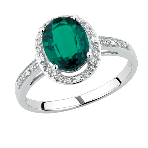 created emerald 0 24 carat tw ring from michael