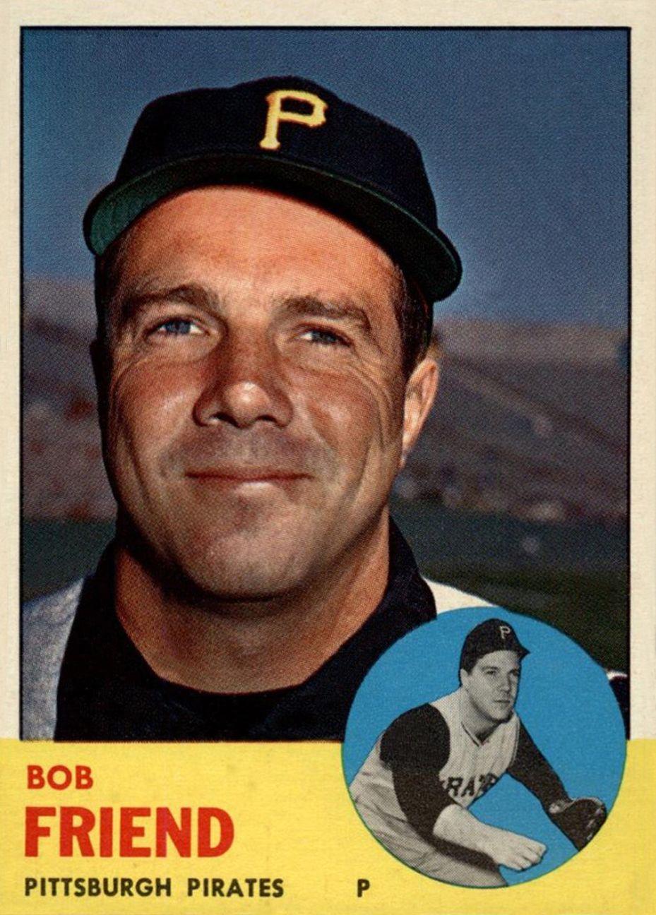 1962 Topps Stamps Bob Friend Pittsburgh Pirates Baseball Card