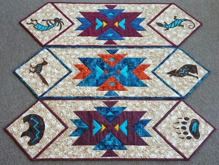 Southwest Kokopelli Table Runner Pattern | Craftsy | Quilting ... : kokopelli quilt pattern - Adamdwight.com