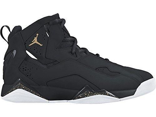 JORDAN MENS JORDAN TRUE FLIGHT BLACK BLACK WHITE GOLD SIZE 10 ... e8514d1ca