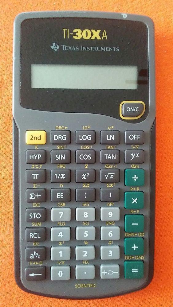 Texas Instruments Ti 30xa Scientific