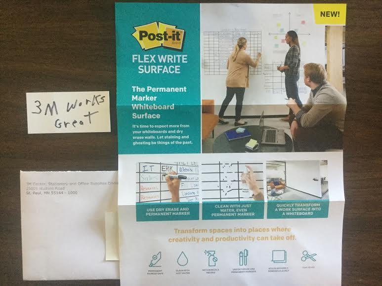 Free 3m Postit Flex Write Surface Sample in 2020