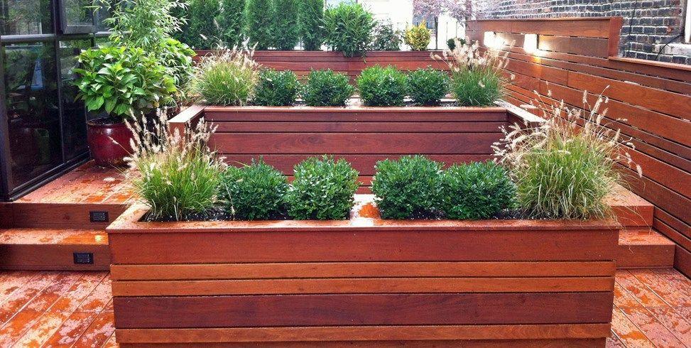 Ipe Roof Deck Planters Amber Freda Home Garden Design New York