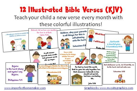 FREE Printable Illustrated Bible Verse Cards