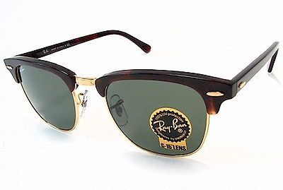 967f38141da Ray Ban RB 3016 Clubmaster Rayban RB3016 Tortoise Gold W0366 Sunglasses  51mm