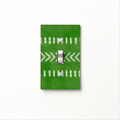 Minimalist Tribal Pattern in Lime Green Light Switch Cover - home decor design art diy cyo custom