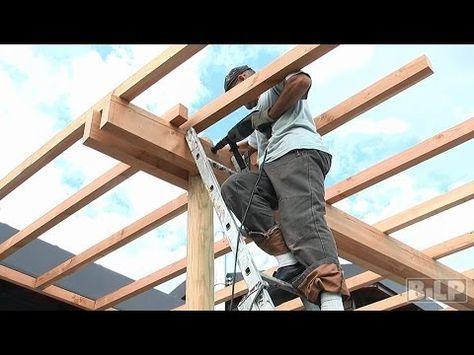 Comment fabriquer soi-même une pergola ? - Livios idde jardin - construire sa terrasse bois