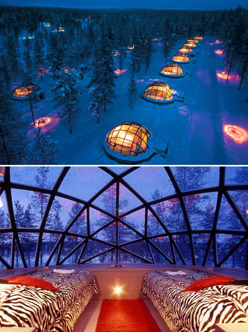 Finland Glass Igloo Village Hotels