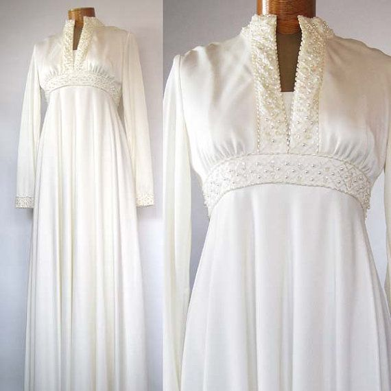 Vintage Ivory 60's Wedding Dress 1960's Vintage By
