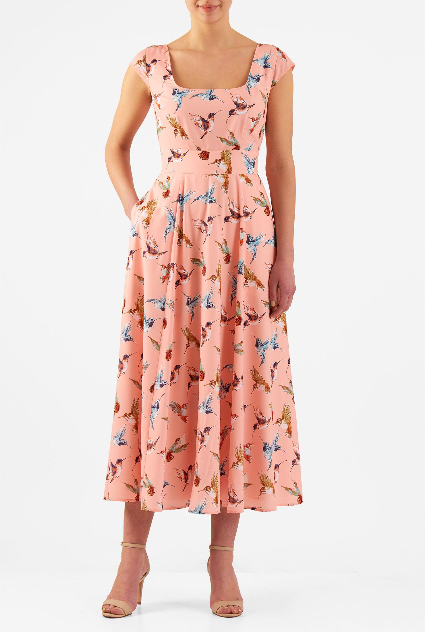 Valerie dress midi dresses crepes and printing
