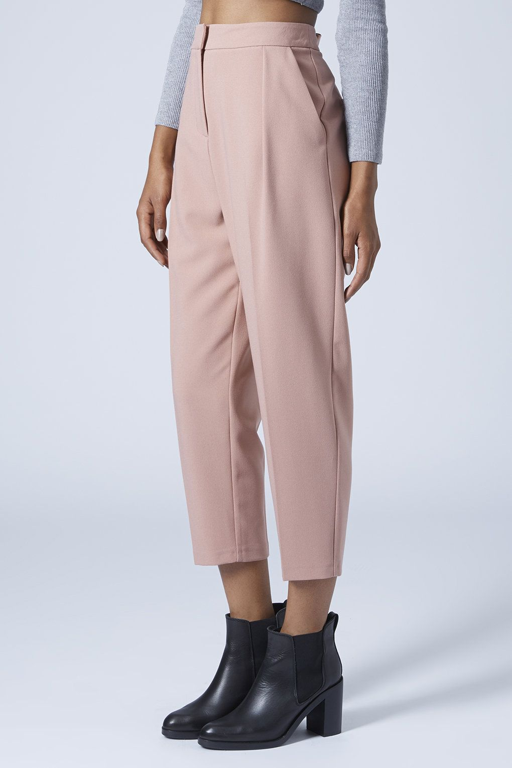 0a7414ed152aa Cropped Peg Leg Trousers - Clothing- Topshop