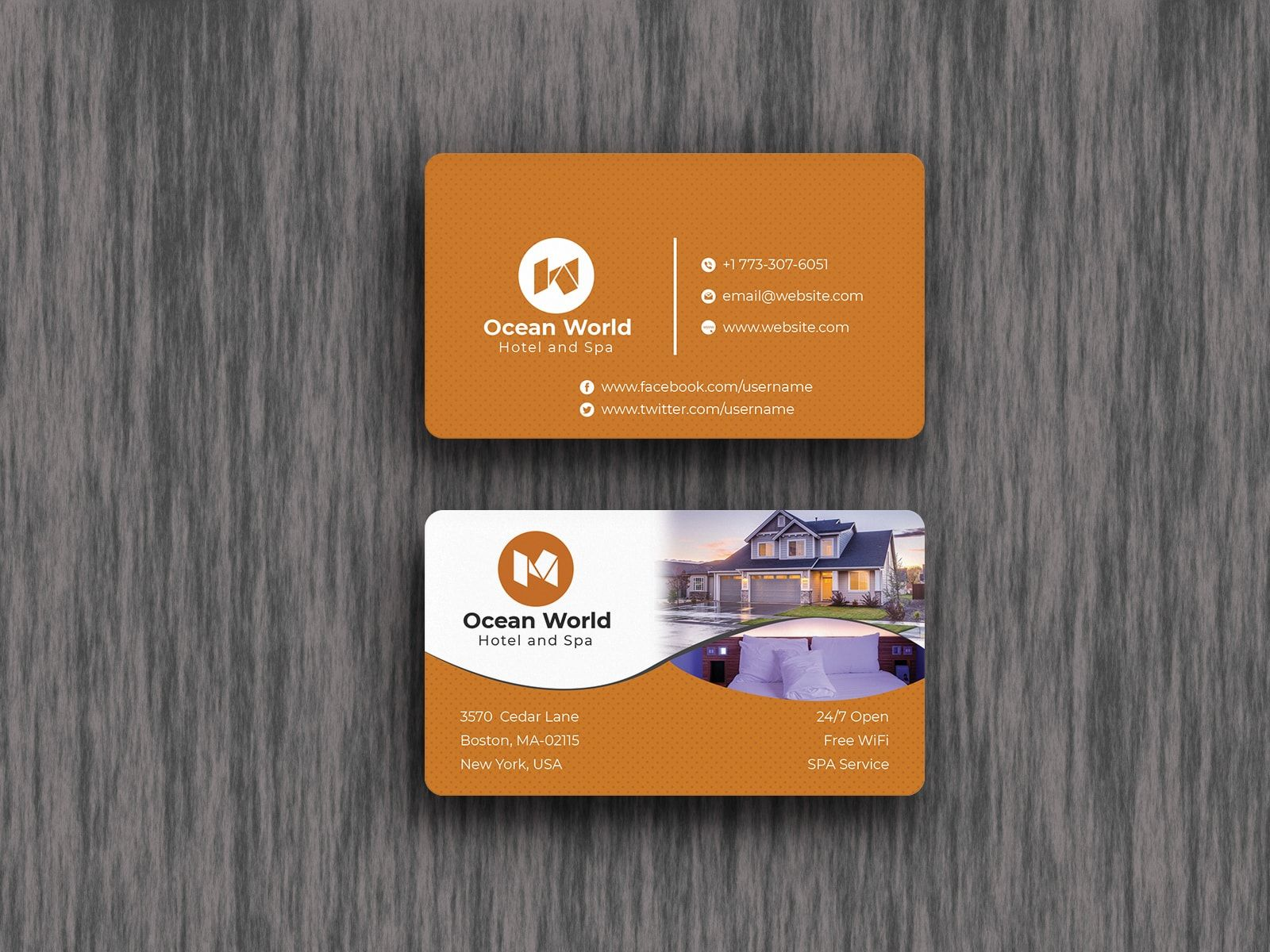 Hotel Business Card Design Template Business Card Design Business Cards Collection Business Card Template Design