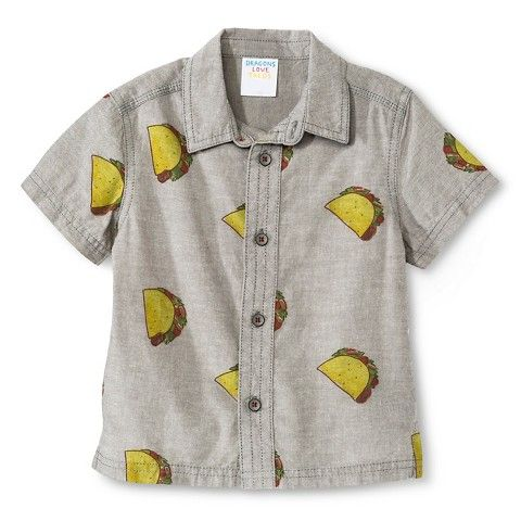 Toddler Boys Dragons Love Tacos Woven Shirt