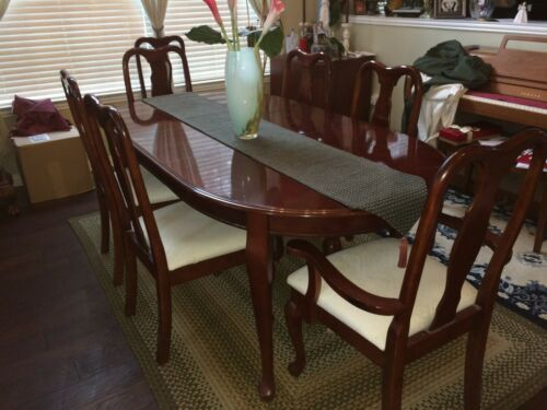 Details About Furniture Dining Room Table With 7 Chairs And Asian