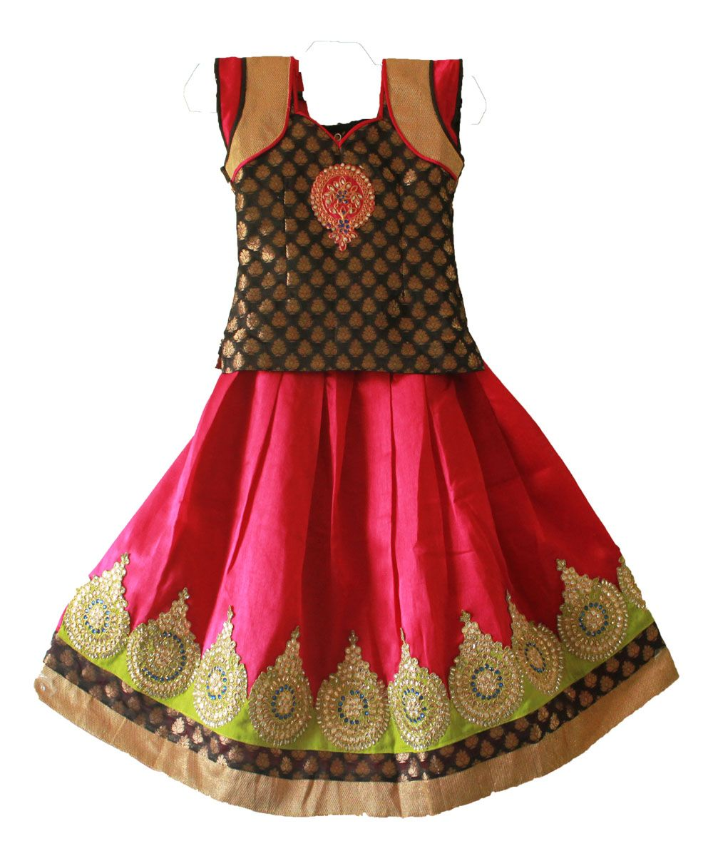f695da4c3 traditional pattu pavadai for 1 year www.princenprincess.in | Pattu ...