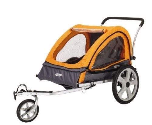 Child Bicycle Trailer Double 2 Kids Twin Jogging Stroller Toddler Folding InStep…