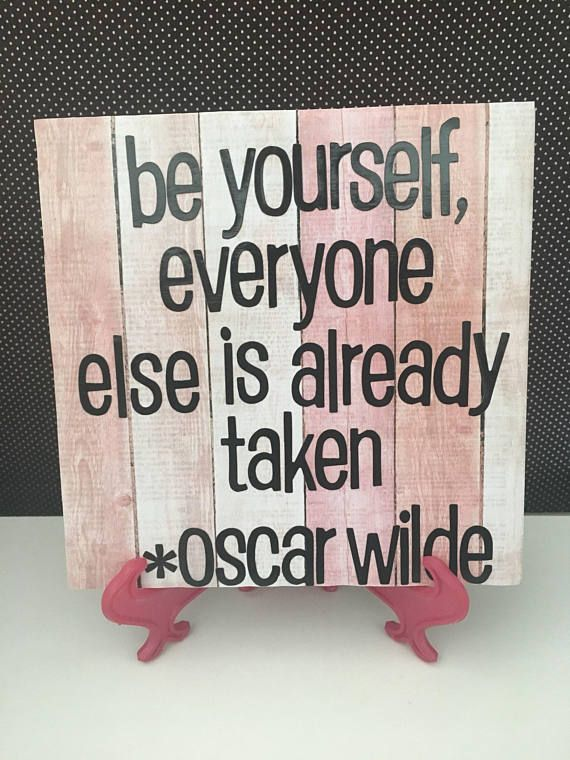 Be Yourself Oscar Wilde Quote Ceramic Tile Wall Hanging   Daisy ...