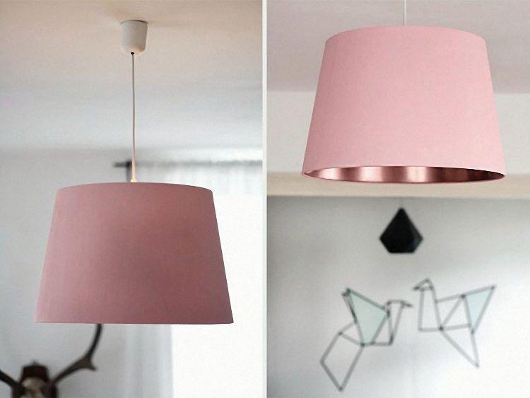 Lampenschirm Schlafzimmer ~ Diy anleitung lampenschirm mit kupferspray verschönern via