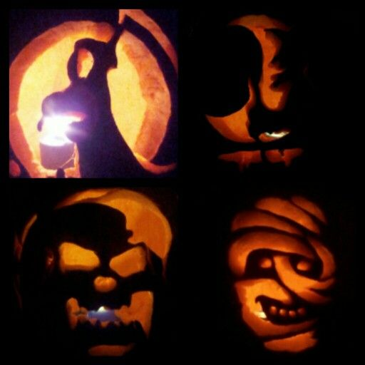 Pumpkin carving.. Annual family competition..