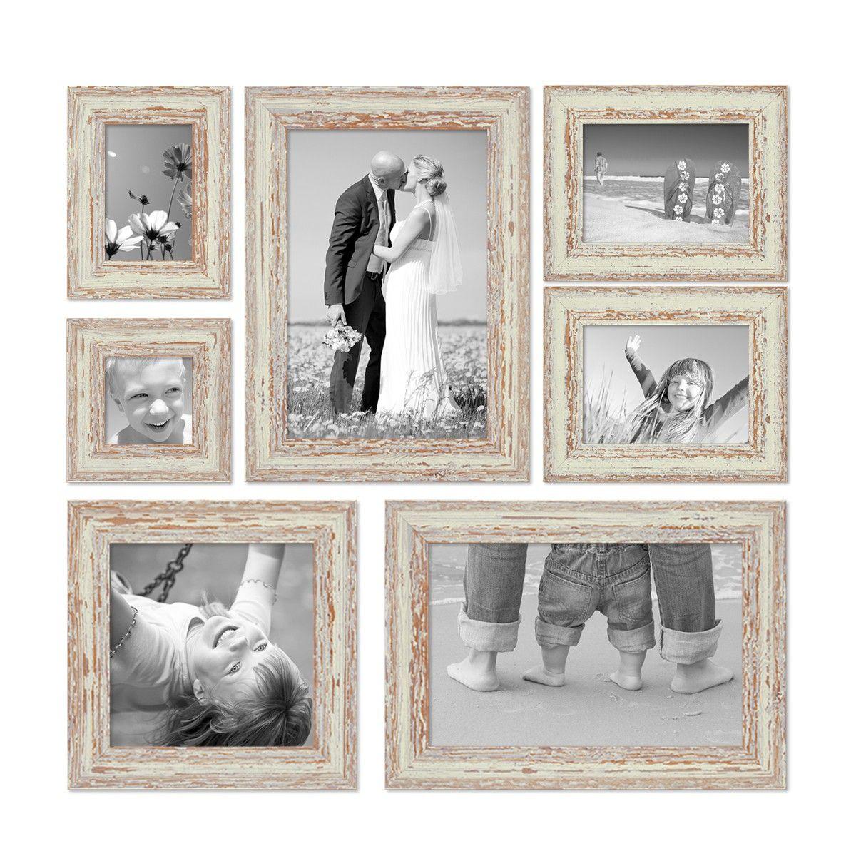 7er Set Vintage BilderrahmenWeiss Shabby-Chic | Pinterest ...