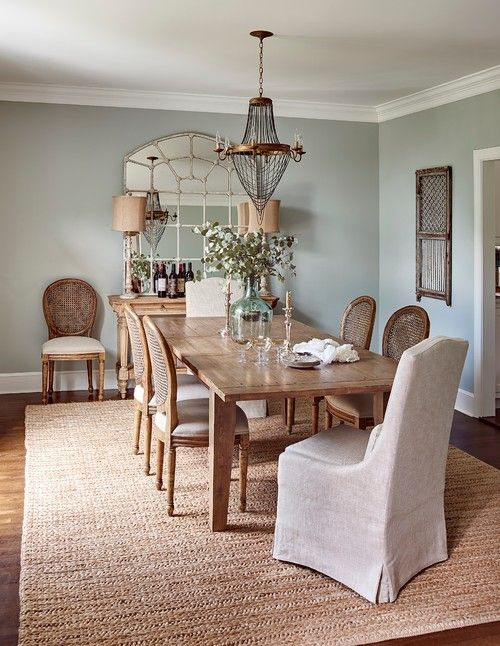 Traditional Dining Room With Sisal Rug Classy Dining Room Traditional Dining Room Dining Room Remodel