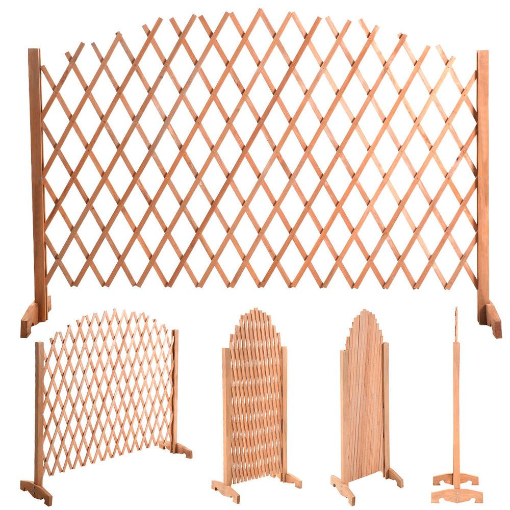 70 4 5 Expanding Portable Fence Wooden Screen Dog Gate Pet