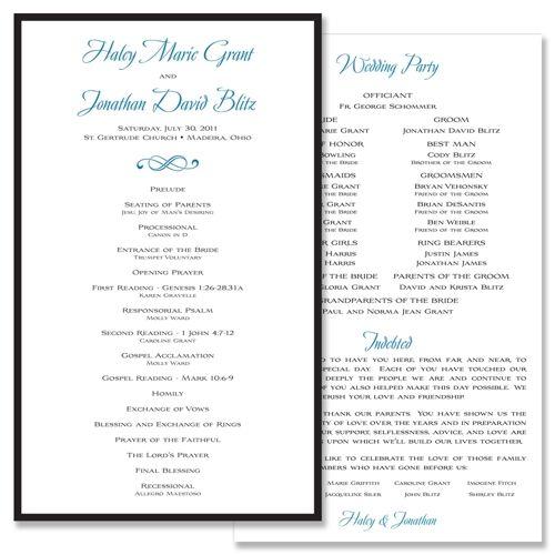 Clic Traditional Unique Wedding Program By The Green Kangaroo