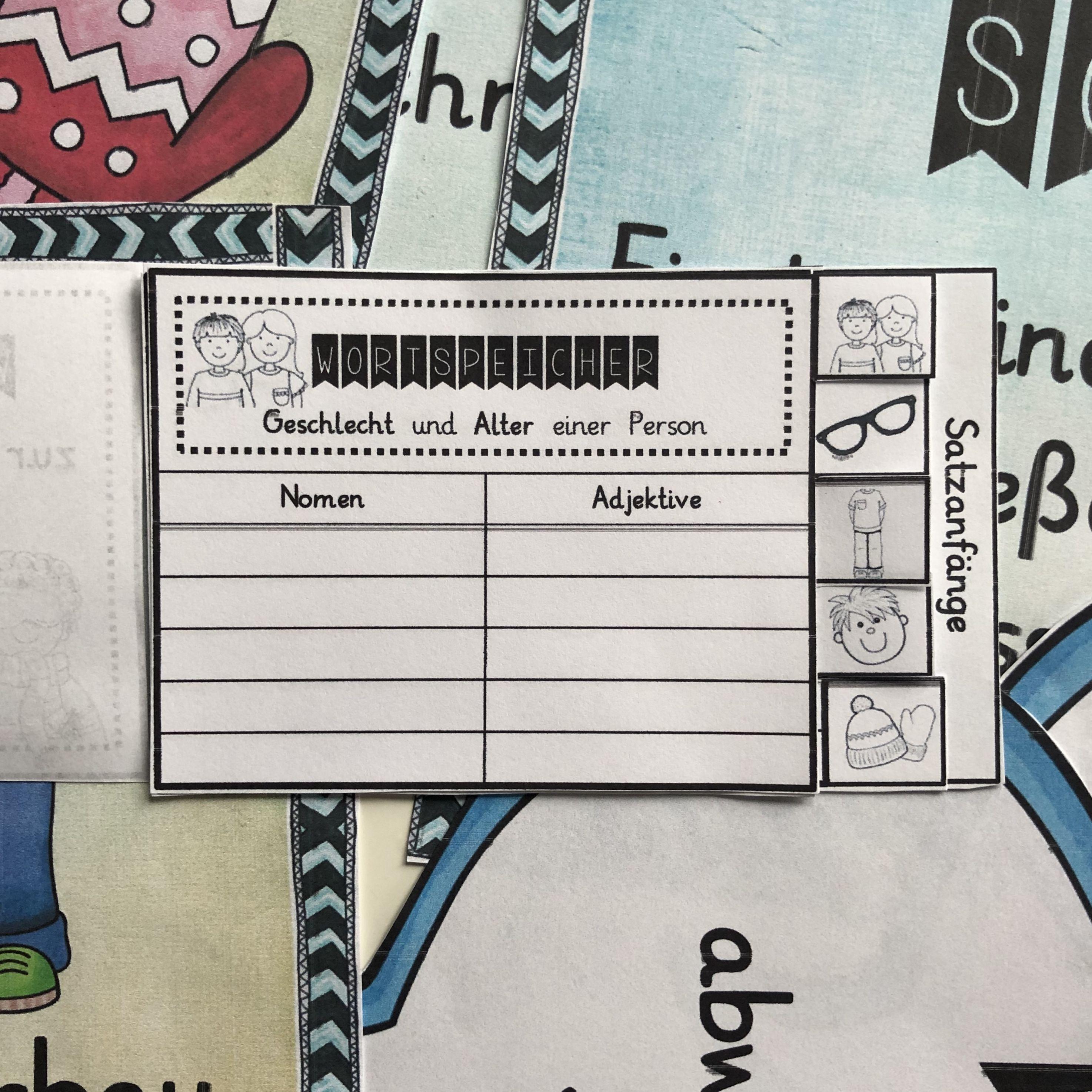 Personenbeschreibung Merkplakate Unterrichtsmaterial im