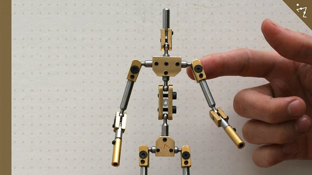 Kinetic stop motion animation armatures. They also take custom-made ...