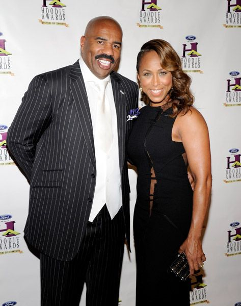 Marjorie Bridges and husband Steve Harvey