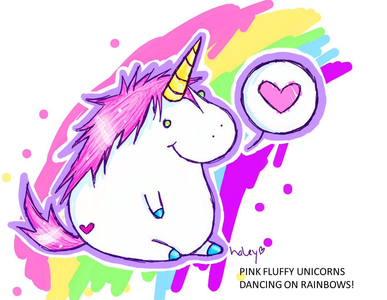 PINK FLUFFY UNICORNS DANCING ON RAINBOWS! | Crafts | Pinterest ...