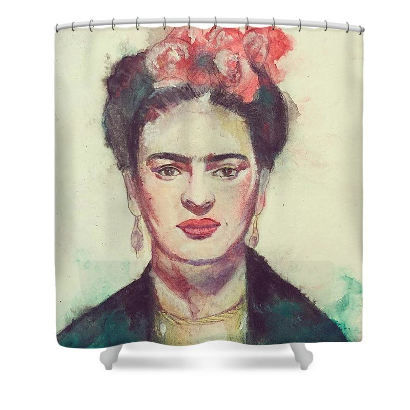 Pop Art Shower Curtain Featuring The Painting Frida Kahlo By Leah