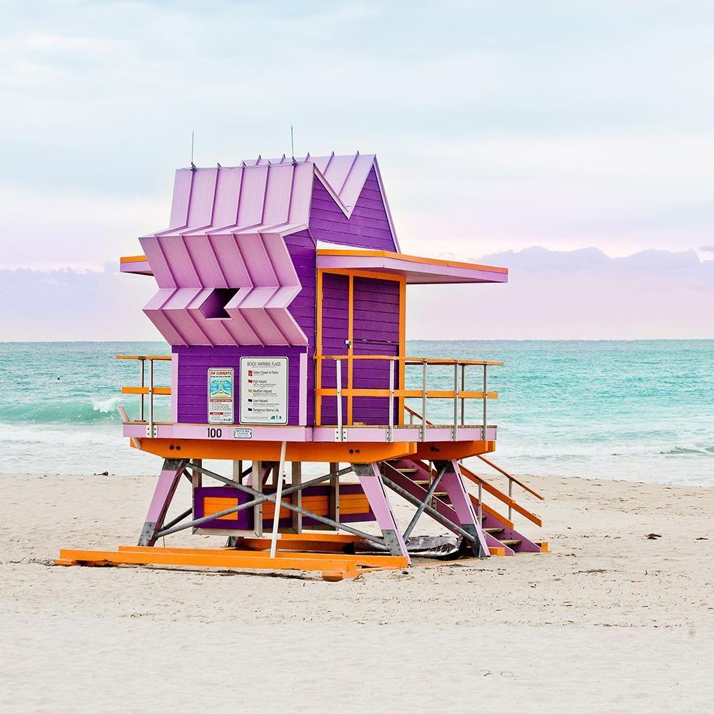 Purple Liuard Tower Beach Hut Miami
