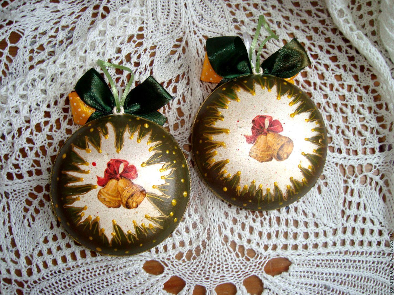 """Купить Медальон """" Детки с открытки"""" 10 см - комбинированный, шар елочный, елка"""
