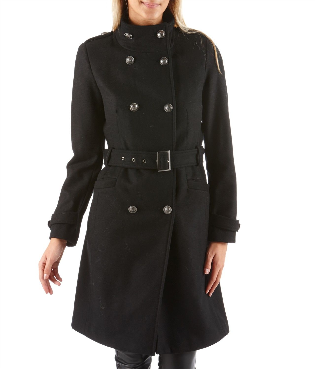 manteau officier femme double boutonnage vetements femme pas cher pinterest manteau. Black Bedroom Furniture Sets. Home Design Ideas