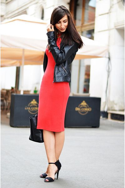 pencil-dress-h-m-dress-pimkie-jacket-zara-bag-vintage-necklace_400.jpg (400×600)