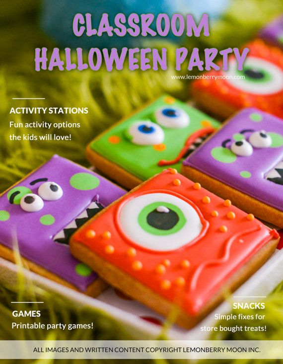 PARTY PLAN - Kids Halloween Classroom Party for Pre-K to Second - kid halloween party ideas