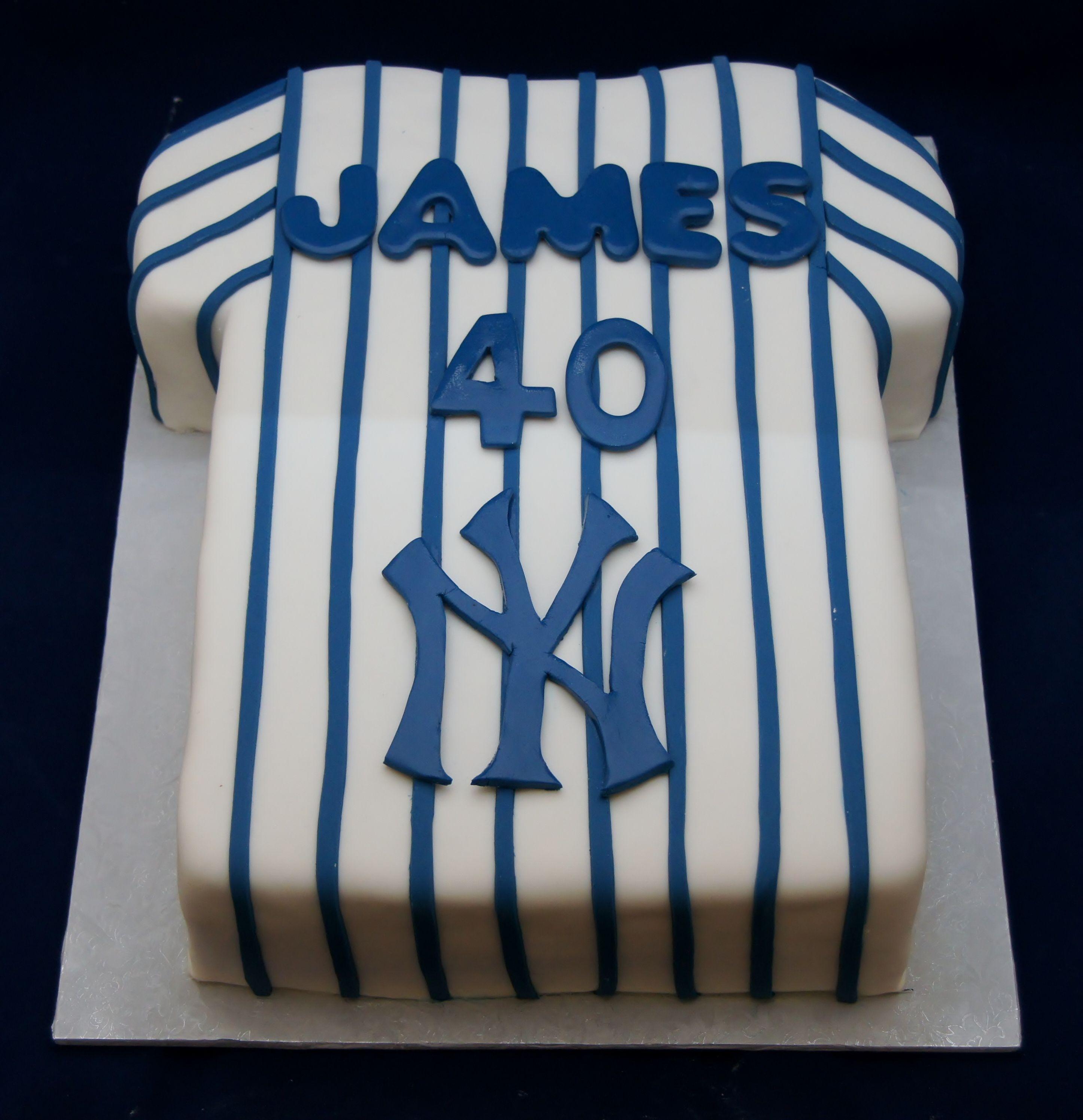 40th Birthday Yankee Jersey Birthday Cake