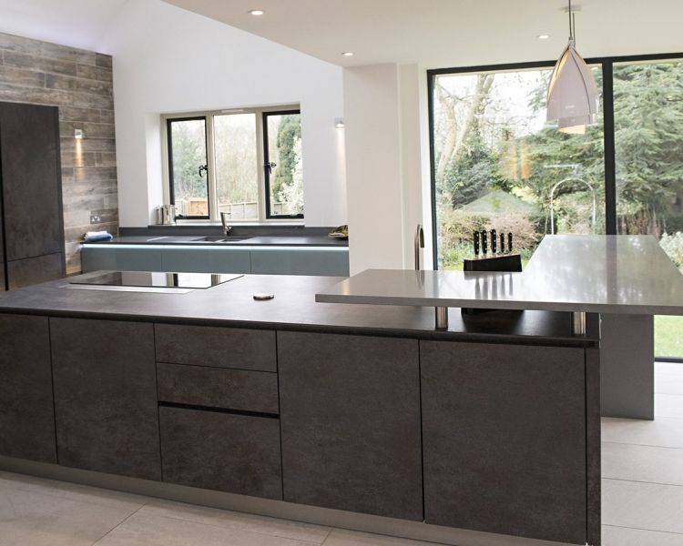 Princess Designs   Mr and Mrs KubikFrom our ALNOSTAR CERA range  here we have an impressive nero  . Princess Design Kitchens. Home Design Ideas