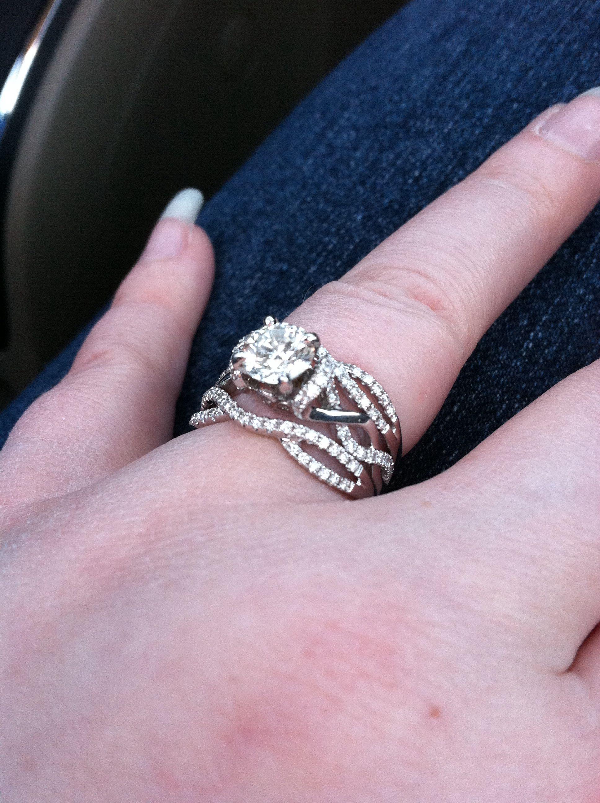 Engagement Ring Inserted Into Wedding Band Engagement Ring Insert Engagement Wedding Bands