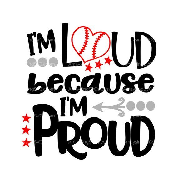 Download SVG I'm Loud Because I'm Proud svg Baseball tshirt svg ...