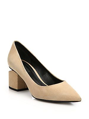 492b61d4283a Alexander Wang Simona Tilt-Heel Suede Point-Toe Pumps Pump Shoes