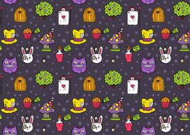Image from http://365psd.com/images/previews/d64/free-vector-alice-in-wonderland-seamless-pattern-59799.jpg.