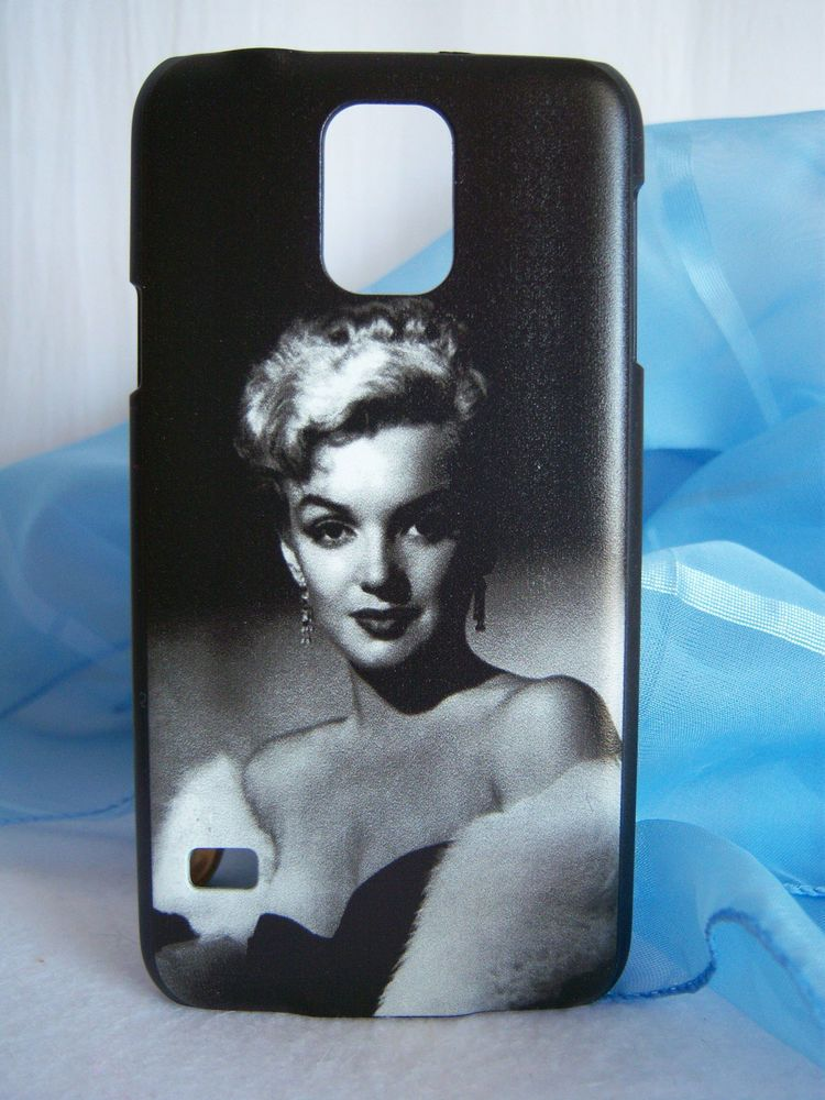 Marilyn in Mink Black & White Plastic Fits Samsung Galaxy S5 Fitted Phone Case  #Unknownbrand