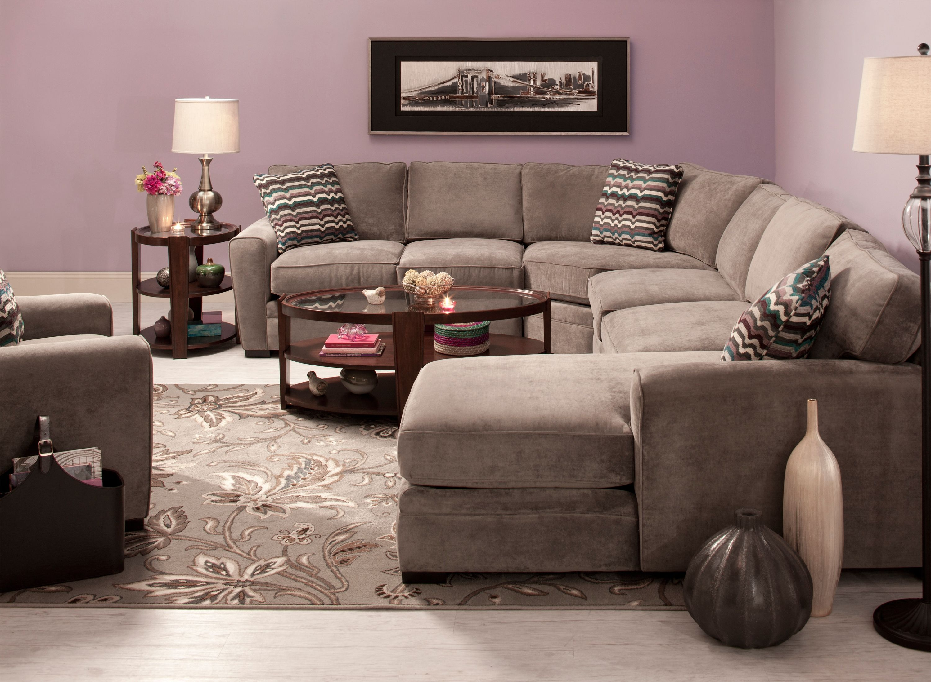 This Artemis II 4 piece microfiber sectional sofa is so easy to