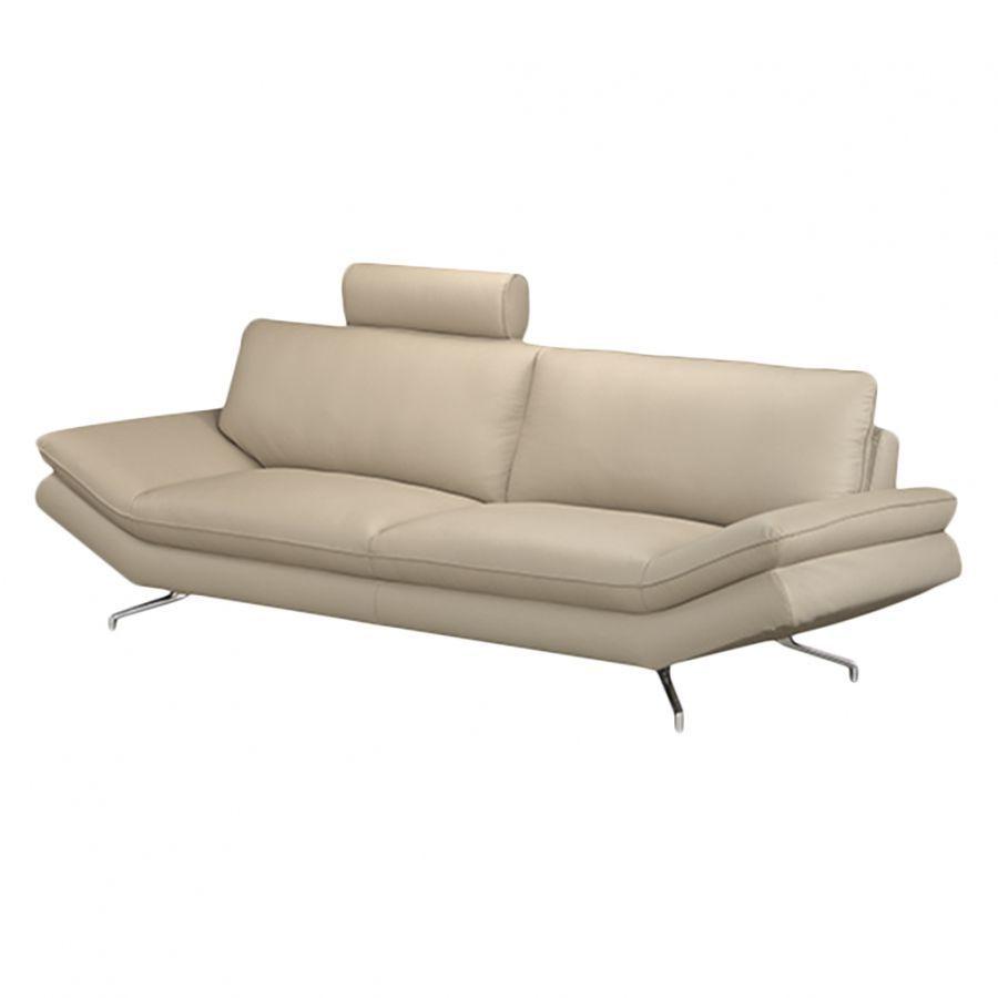 Genial Sofa Mit Kopfstütze Galerie Von Sharon (2,5-sitzer) Echtleder Beige - Kopfstütze, Loftscape