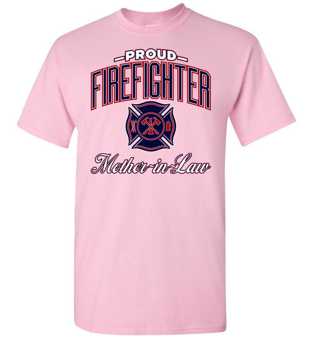 Fire truck loft bed with slide  Proud Firefighter MotherinLaw TShirt  Products  Pinterest
